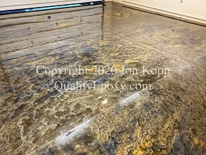 Quality Metallic Epoxy Floor with Onyx, Mayan Gold Colors