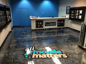 Quality Metallic Epoxy Floor at All Mobile Matters, Chandler, AZ