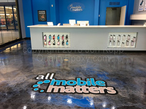 Quality Metallic Epoxy Floor at All Mobile Matters, Tucson, AZ