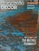 Concrete Decor Magazine July 2017 Article
