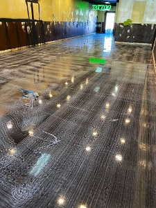 Quality Metallic Epoxy Floor at Articulate Gallery