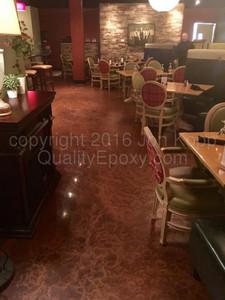 Quality Metallic Epoxy Floor at Brugos Pizza