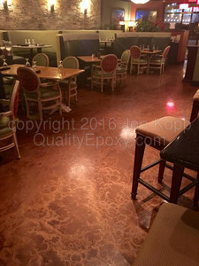 Quality Metallic Epoxy Floor at Brugos Pizza