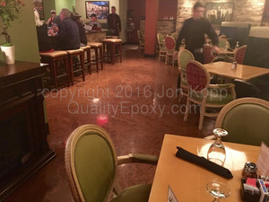 Quality Metallic Epoxy Floor at Brugos Pizza and Bistro, Cave Creek, AZ