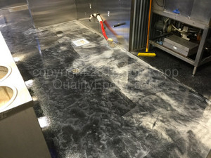Quality Metallic Epoxy Floor at Cruisers Cafe 66, Williams, AZ