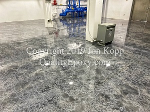 Quality Metallic Epoxy Floor at City of Chandler, Chandler, AZ