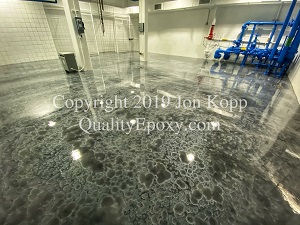 Quality Metallic Epoxy Floor at City of Chandler