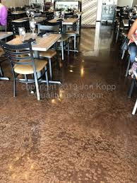 Quality Metallic Epoxy Floor at Cafe Chenar