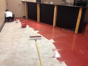 Quality Metallic Epoxy Floor at Desert Car Care