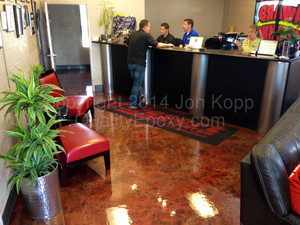 Quality Metallic Epoxy Floor at Desert Car Care, Chandler, AZ