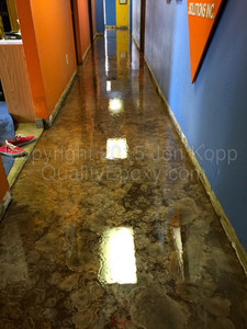 Quality Metallic Epoxy Floor at Diamond Steel, Phoenix, AZ