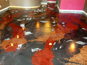 Quality Metallic Epoxy Floor at Eden Grill