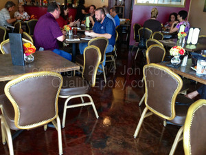 Quality Metallic Epoxy Floor at Eden's Grill, Phoenix, AZ