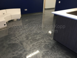 Quality Metallic Epoxy Floor at EIG Building Components, Phoenix, AZ