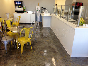 Quality Metallic Epoxy Floor at Everyone Loves Fondue, Gilbert, AZ