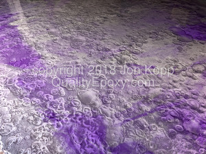 Quality Metallic Epoxy Floor with Quicksilver, Grape Colors