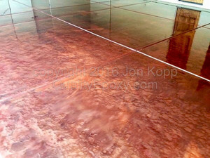 Quality Metallic Epoxy Floor with Copper, Arizona Gold, Autumn Blaze Colors