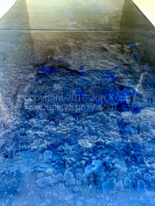 Quality Metallic Epoxy Floor with Caribbean Blue, Quicksilver, Black Colors