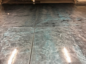 Quality Metallic Epoxy Floor with Black, Galaxy Blue, Quicksilver Colors