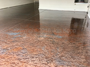 Quality Metallic Epoxy Floor with Quicksilver, Tahoe Blue Colors
