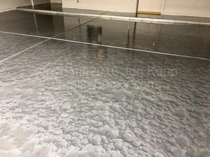 Quality Metallic Epoxy Floor with Quicksilver Colors