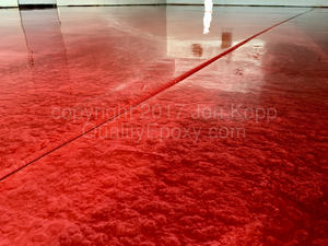 Quality Metallic Epoxy Floor with Merlot Colors