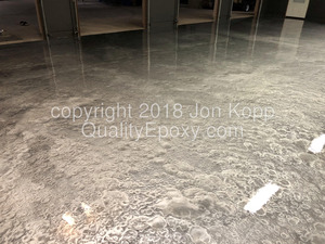 Quality Metallic Epoxy Floor with Quicksilver, Sterling Colors