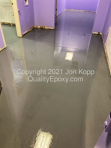 Quality Metallic Epoxy Floor at Jen's Pet Parlor