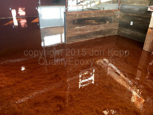 Quality Metallic Epoxy Floor at Jugs and Strokers