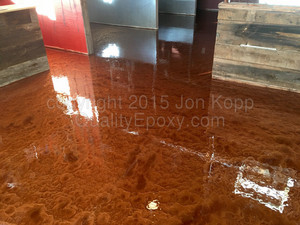 Quality Metallic Epoxy Floor at Jugs And Strokers, Coolidge, AZ