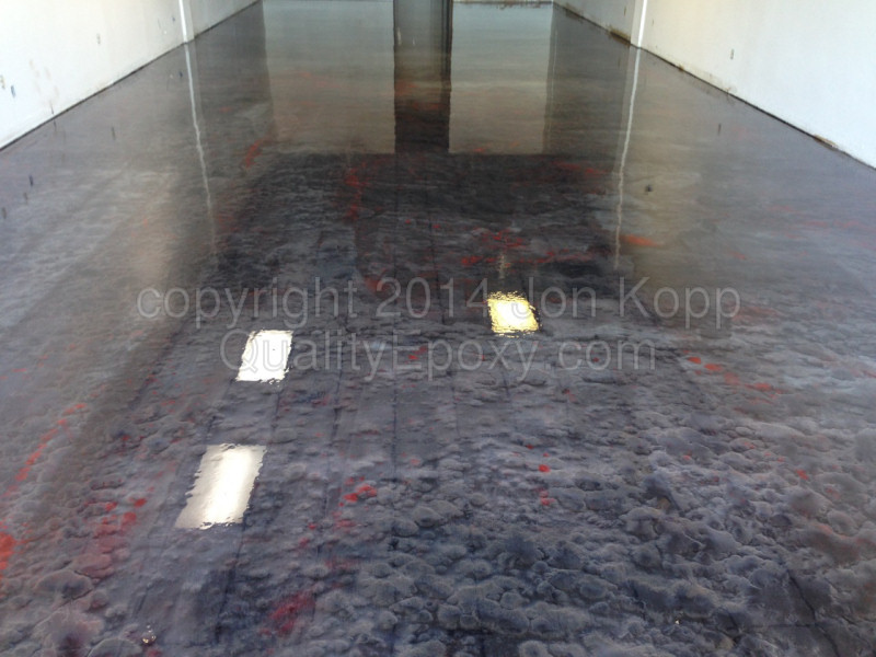 Quality Metallic Epoxy Floor at King of Nuts