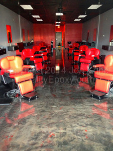 Quality Metallic Epoxy Floor at King Of Kuts, Chandler, AZ