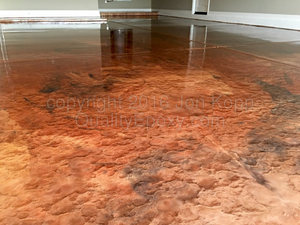 Quality Metallic Epoxy Floor with Mayan Gold, Black, Copper Colors