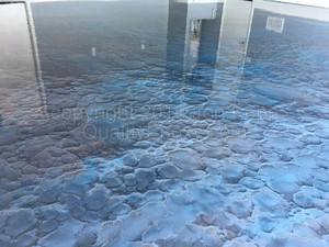 Quality Metallic Epoxy Floor with Quicksilver, Galaxy Blue Colors