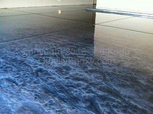 Quality Metallic Epoxy Floor with Quicksilver, Graphite Colors