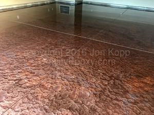 Quality Metallic Epoxy Floor with Burlywood, Cappuccino, Copper Colors