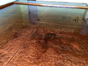 Quality Metallic Epoxy Floor with Copper, Cappuccino Colors