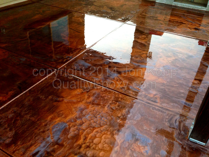 Metallic epoxy flooring pictures for Flooring jobs