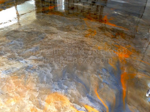 Quality Metallic Epoxy Floor with Quicksilver, Sunrise, AZ Gold Colors