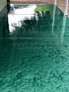 Quality Metallic Epoxy Patio Floor