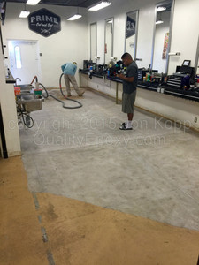 Quality Metallic Epoxy Floor at Prime Cut and Sew