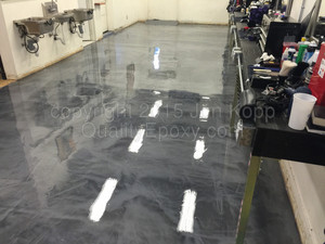 Quality Metallic Epoxy Floor at Prime Cut and Sew, Mesa, AZ