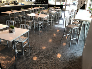 Quality Metallic Epoxy Floor at Protein House