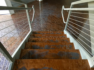 Quality Metallic Epoxy Floor at Quantum, Scottsdale, AZ