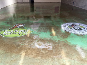 Quality Metallic Epoxy Floor at Rainforest Plumbing and Air