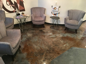 Quality Metallic Epoxy Floor at Ramon Hair Studio