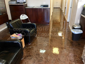 Quality Metallic Epoxy Floor at Social Ink, Mesa, AZ