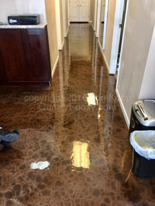 Quality Metallic Epoxy Floor at Social Ink
