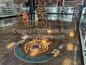 Quality Metallic Epoxy Floor at Cafe taigo