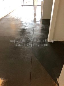 Quality Metallic Epoxy Floor at Toni and Guy Hair Salon